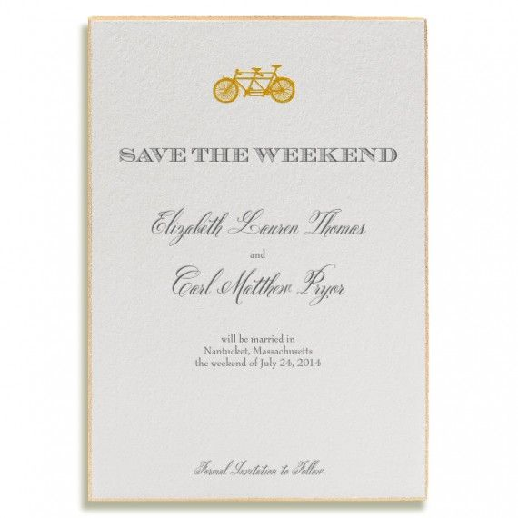 design your own save the date online this tandem bicycle gold