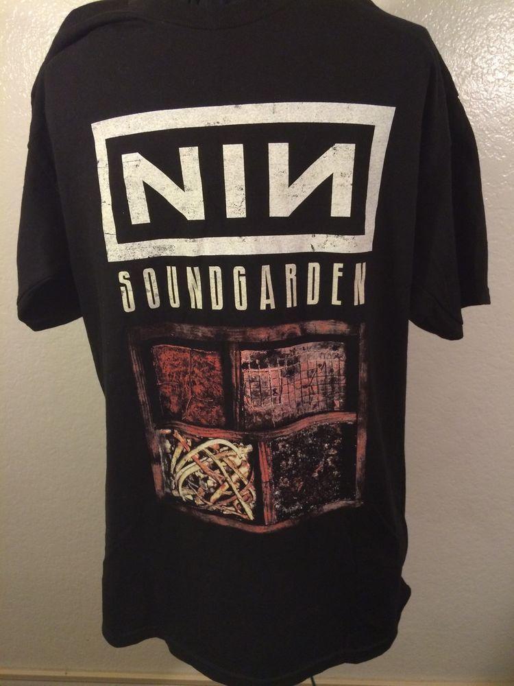 Nine Inch Nails NIN T-Shirt Black Large 2014 Tour Soundgarden ...