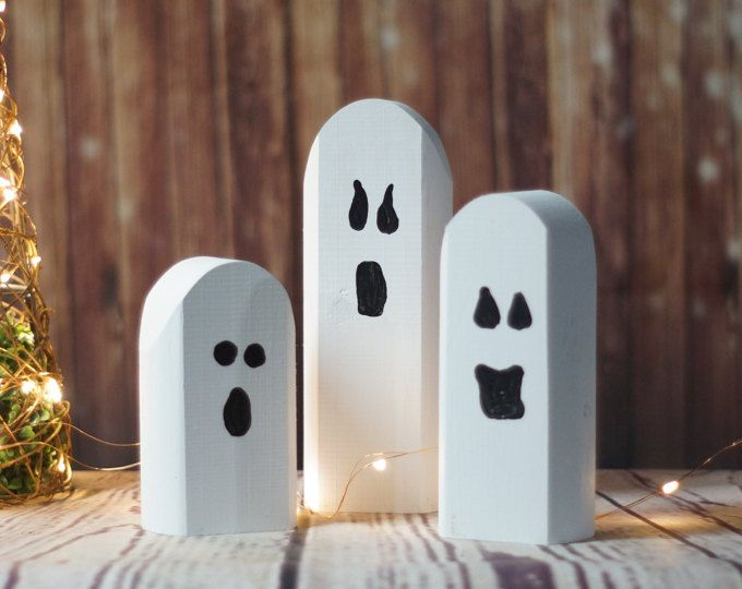 Reclaimed Wood Ghosts, Rustic Halloween Decor, Primitive Ghost - halloween decoration images