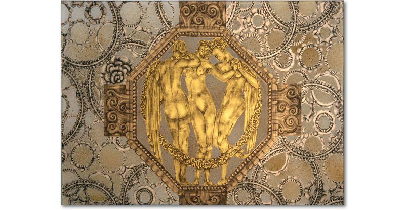 Detail Verre Eglomis 233 Master Bath An 233 Glomis 233