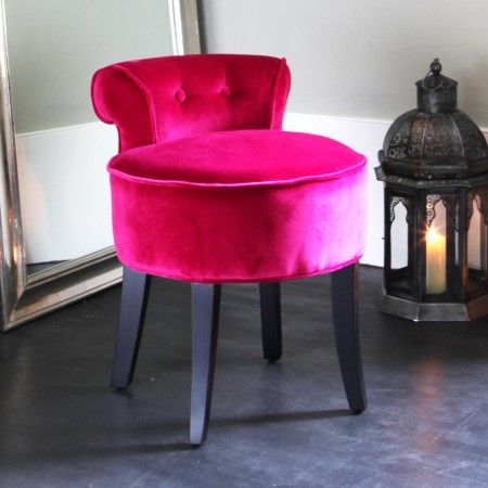 Hot Pink Stool For Makeup Table Hot Pink Pink Chair