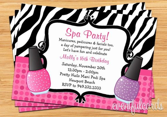Pamper Party Invitations Templates Free Printable 5 | Invitation ...
