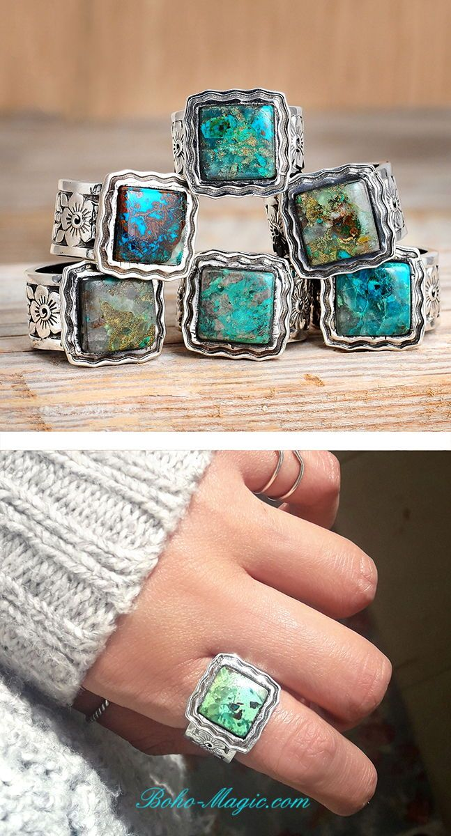 65373fa05 Turquoise rings, western style jewelry, southwest jewelry, natural stone  ring, Turquoise silver