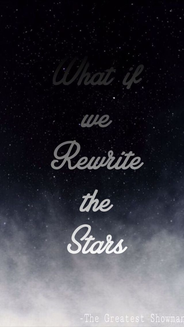 Rewrite The Stars Heart Song Lyric Quote Print