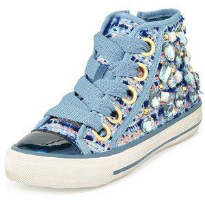 embellished lace-up sneakers - Blue Ash jaBJA