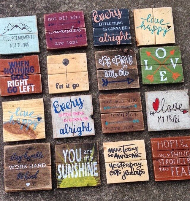 Mini Pallet Signs Wood Signs Wood Signs Sayings Wood Pallet Projects Pallet Signs