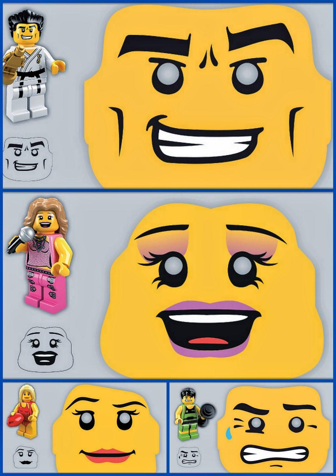 Divertidas Máscaras de Lego para Imprimir Gratis.   joaquin ...