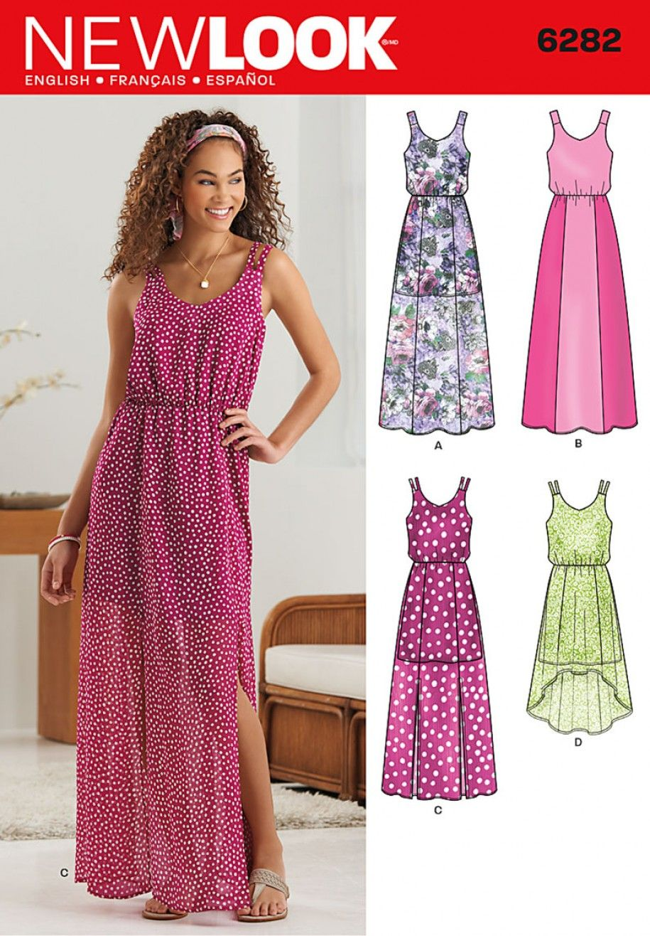 30d07b2c206 New Look 6282 Misses  Dress in Two Lengths Sewing Pattern