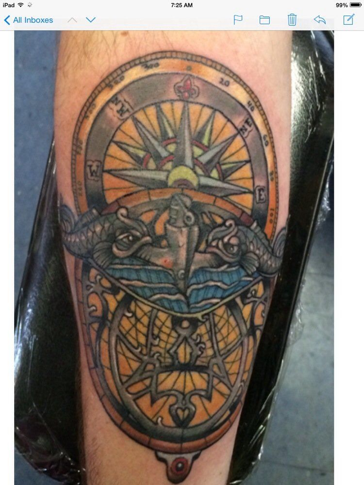 locally famous tattoos spring tx united states submarine dolphins on compass and astrolabe. Black Bedroom Furniture Sets. Home Design Ideas