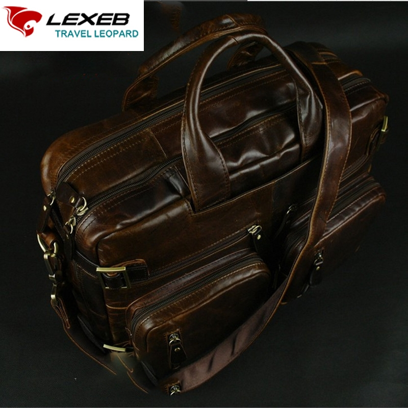 133.01$  Buy here - http://alisrk.worldwells.pw/go.php?t=32708151689 - LEXEB Genuine Leather Computer Bag 14 Men's Travel Bags Luxury Brand Design Multi-function High Quality Large Capacity Handbag