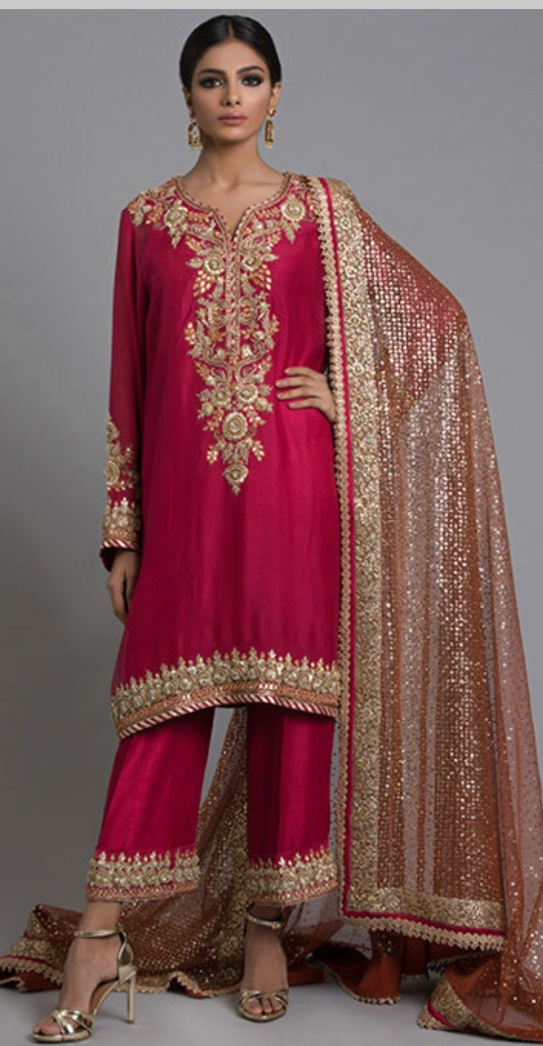 93bed4ea5d Dabka embroidered suit Pakistani Formal Dresses, Pakistani Outfits, Indian  Outfits, Shadi Dresses,