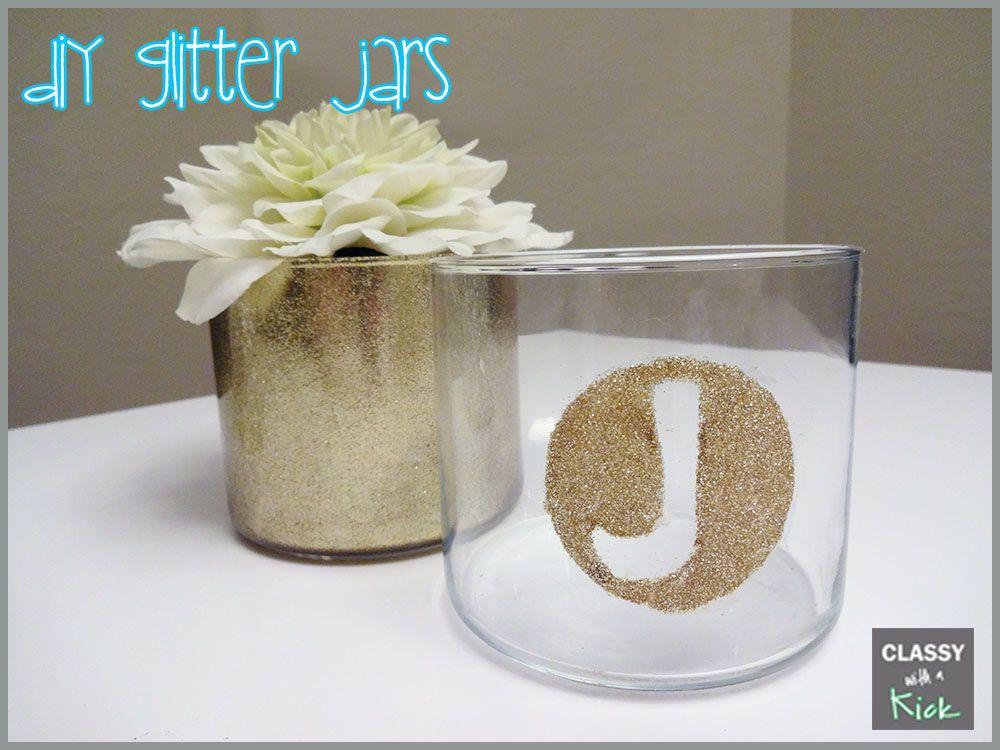 diy glitter jars from empty candle jars make easy diys candle jars empty candle jars. Black Bedroom Furniture Sets. Home Design Ideas