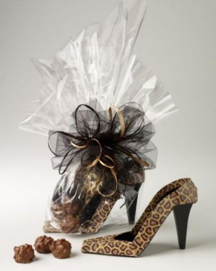 Shoe centerpieces high heel birthday party