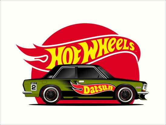 Hot Wheel Datsun Wagon Art Print By Faizalpeyjal In 2021 Hot Wheels Datsun Wagon