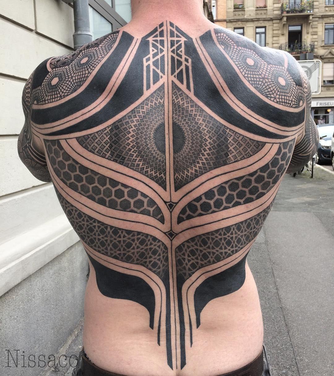 Back piece Tribal tattoos, Tattoos