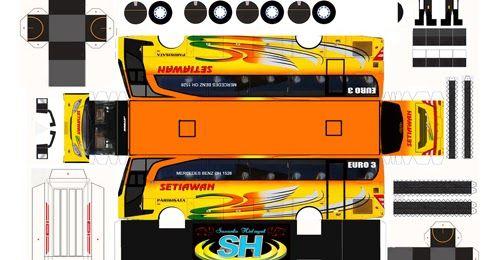 Pola Papercraftbus Setiawan Free Download Resolusi Tinggi Model Trains Paper Crafts Bus