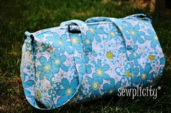 Quilted Duffle Bag - Free Sewing Tutorial by Sewplicity