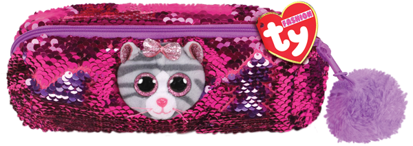 """2019 TY Flippables Sequins 8/"""" Bamboo the Panda Fashion Pencil Bag Case MWMTs"""