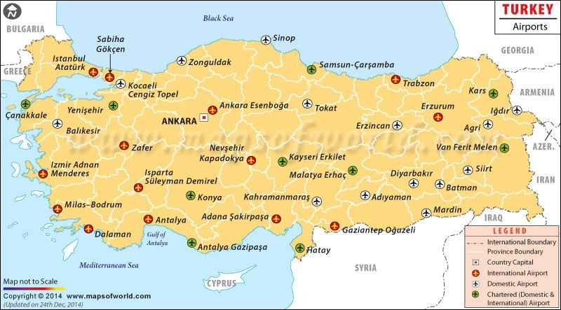 Turkey Airports Map TURKEY Pinterest Airport turkey