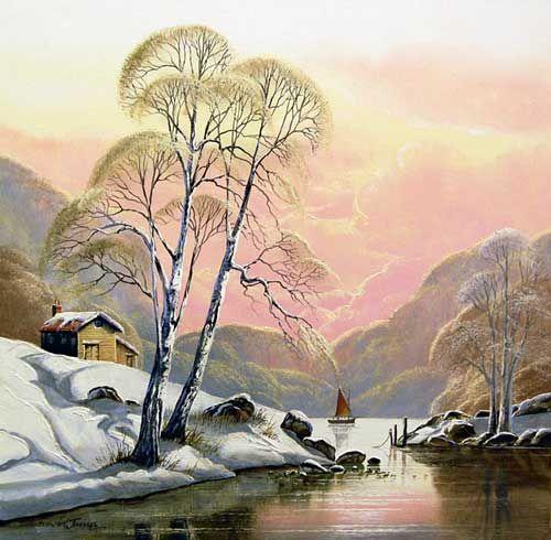 Winter Calm - Original painting by David James