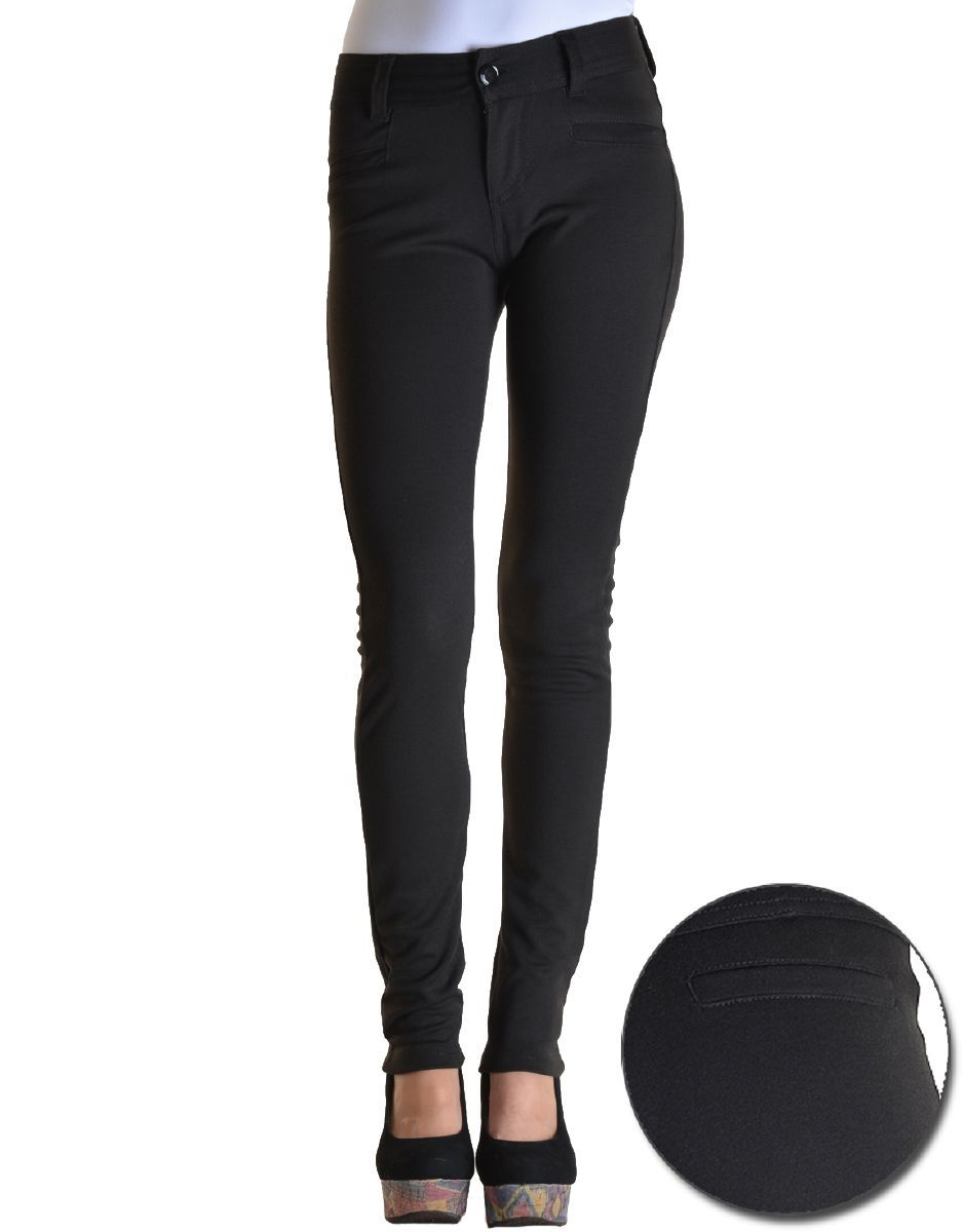 black skinny dress pants - Pi Pants
