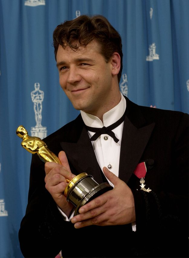 1/9/14 9a The Academy Awards Ceremony 2001: Russell Crowe Best Actor