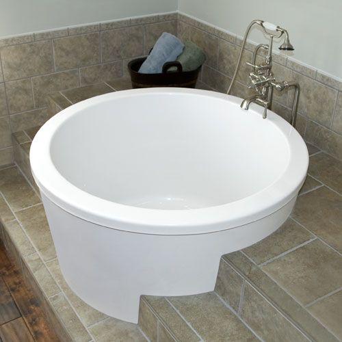 Photos 47 Caruso Round Japanese Soaking Tub Signature Hardware Japanese Soaking Tubs Japanese Soaker Tub Japanese Bathtub