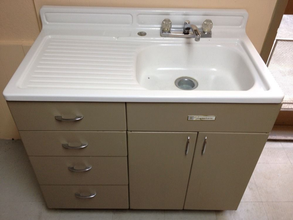 vintage kitchen sink cabinet. Vintage Metal Kitchen Sink Cabinet On Popscreen From And E