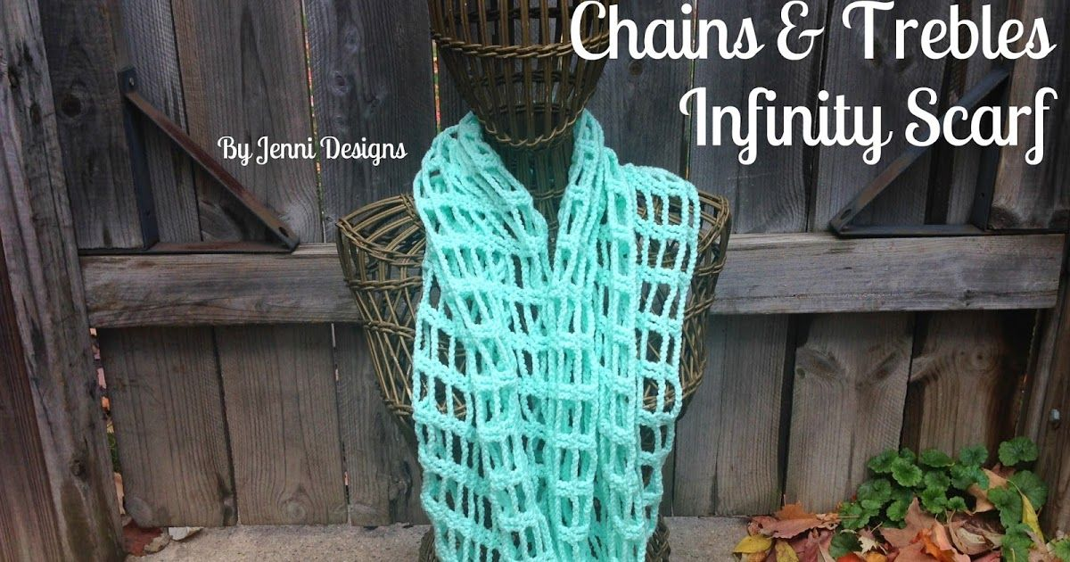 Free Crochet Pattern: Chains and Trebles Infinity Scarf | Crochet ...