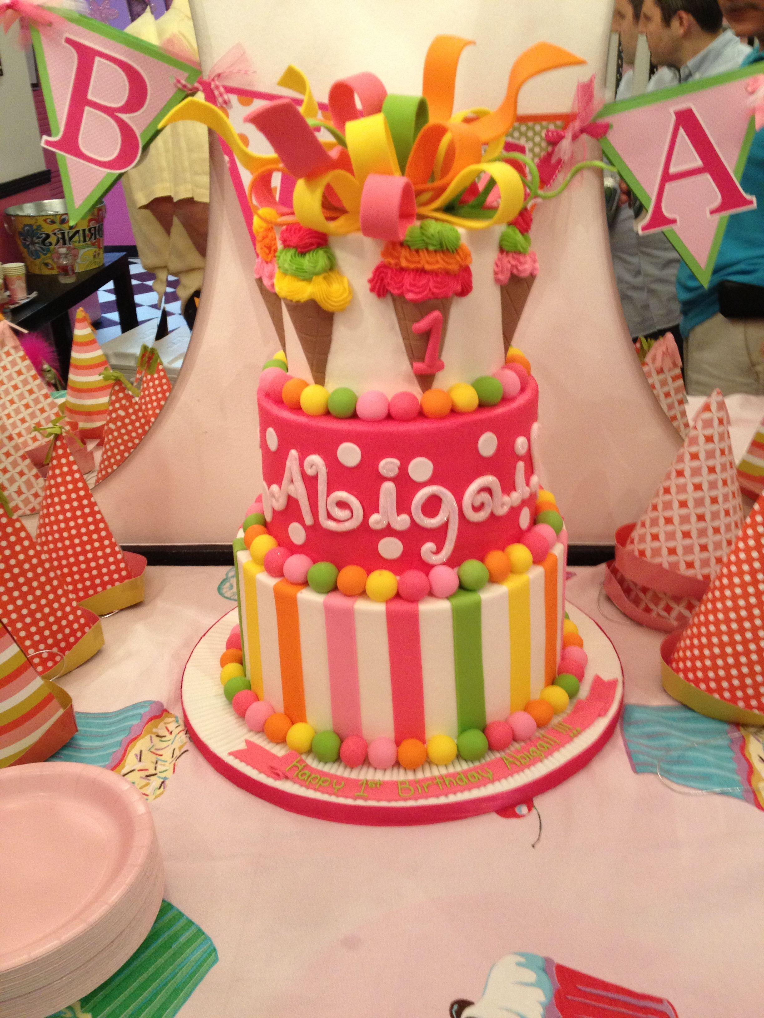 Baby Girls 1St Birthday Cake