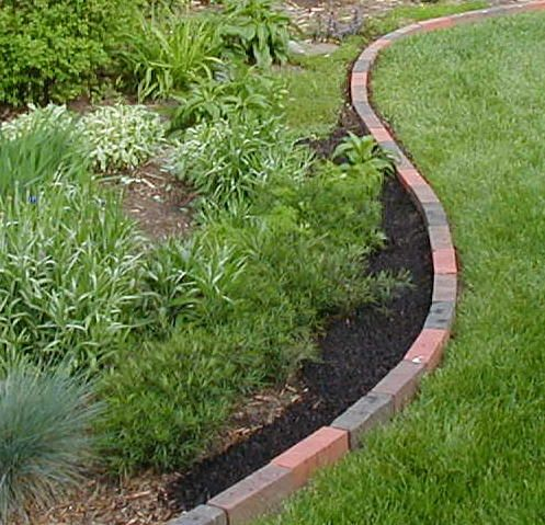 Brick Edging Seems More Flexible And Clean Than What We Have Brick Garden Edging Brick Landscape Edging Brick Garden