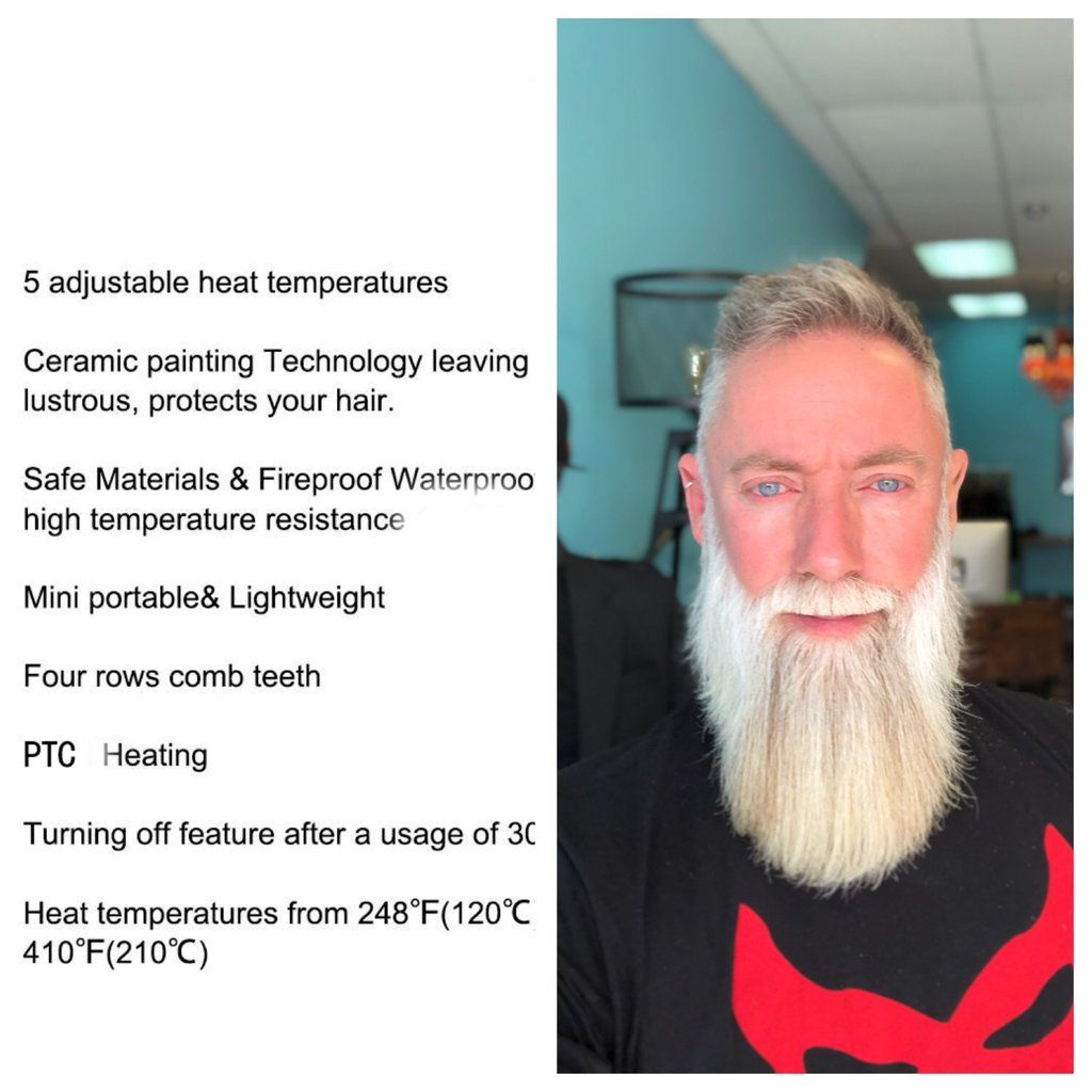 Heated Beard Straightener in 2019 | beard care / hopes | Beard
