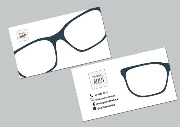 b4fd50f2b cartão de visita para promover a marca da sua ótica Modelos De Óculos,  Comunicação Visual