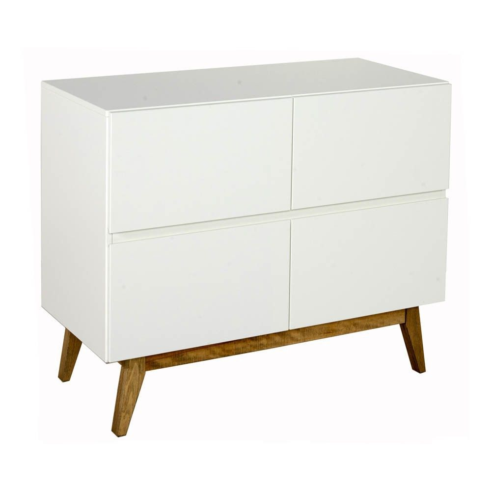 Commode Chambre Design Trendy 4 Drawer Chest White Entrance