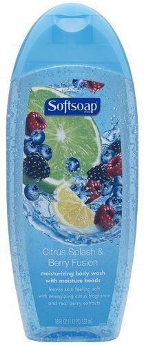 Softsoap Citrus Splash and Berry Fusion Moisturizing Body Wash, 18 Fluid Ounce (Pack of 3)