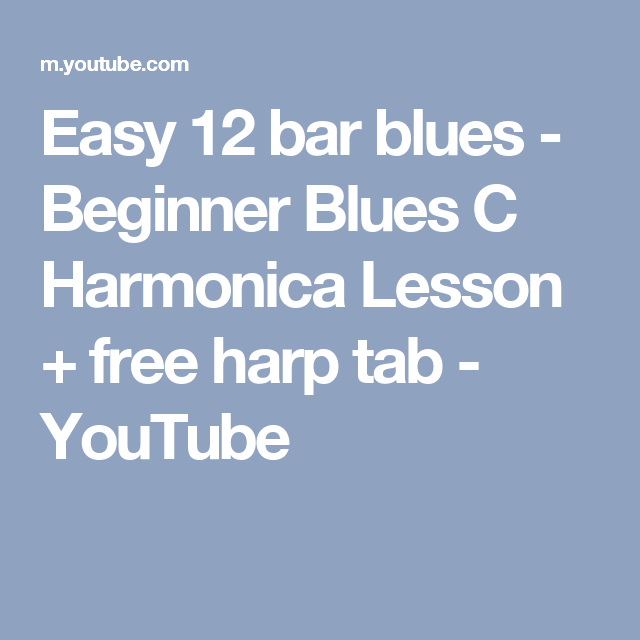 Harmonica Blues Tabs
