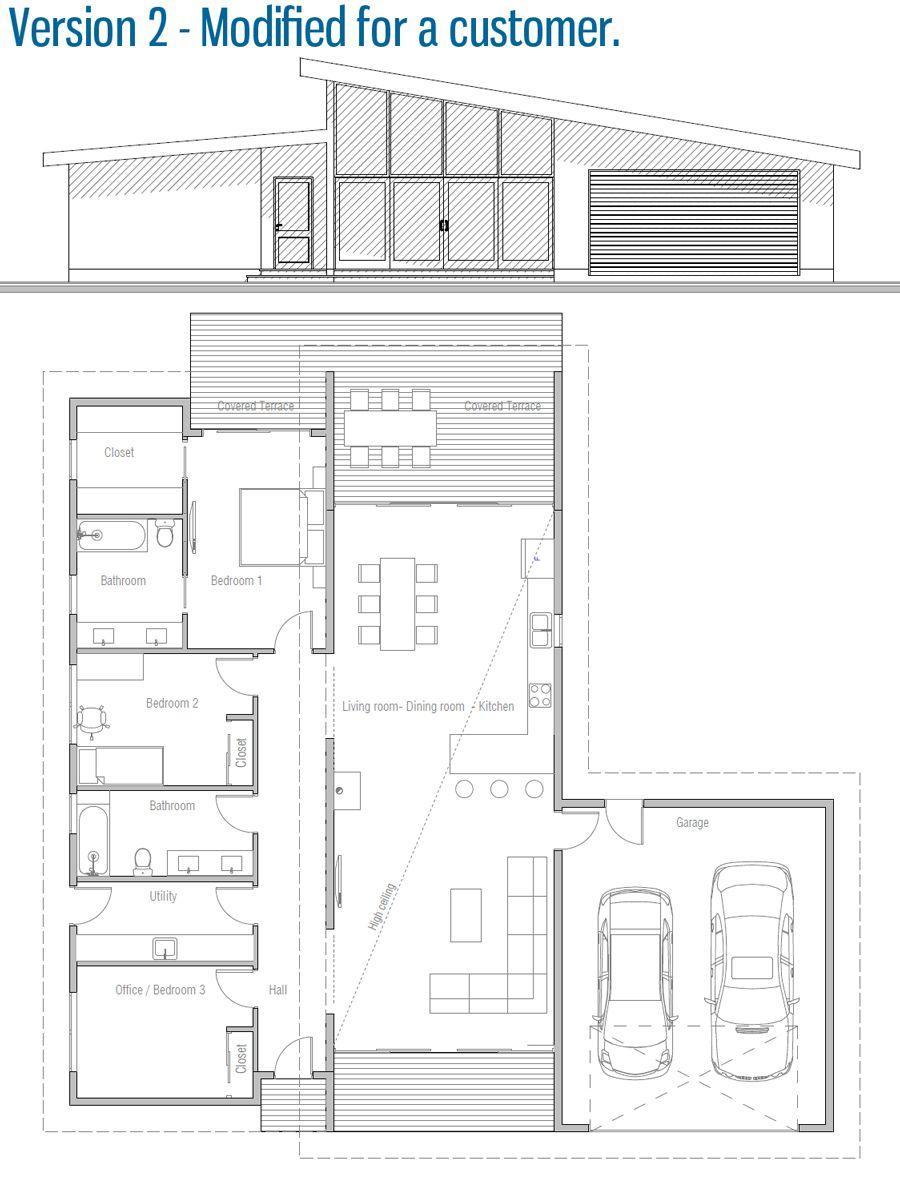 House Design House Plan Ch280 45 Modern House Design New House Plans Modular Home Plans
