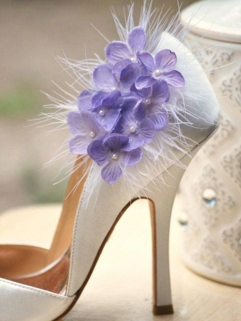 Shoe Clips Sweet Lilac Lavender / Lime Green / Pink by sofisticata, Wedding French Shabby Chic Couture, Heel Accessory. http://sofisticata.etsy.com