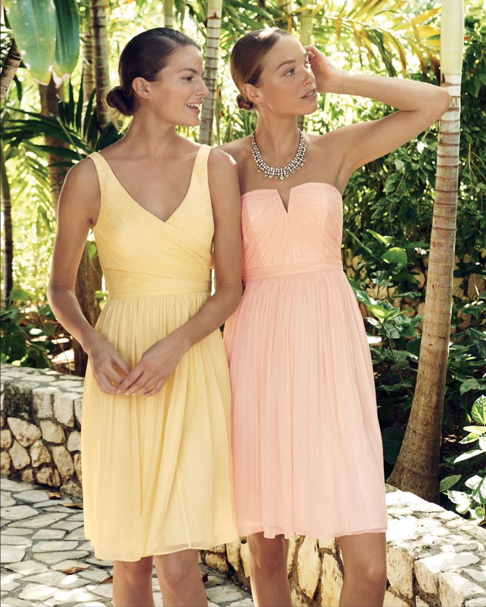 Pastel Colored Wedding Gowns: Pastel Colors For Bridesmaids -- The J.Crew Wedding Event