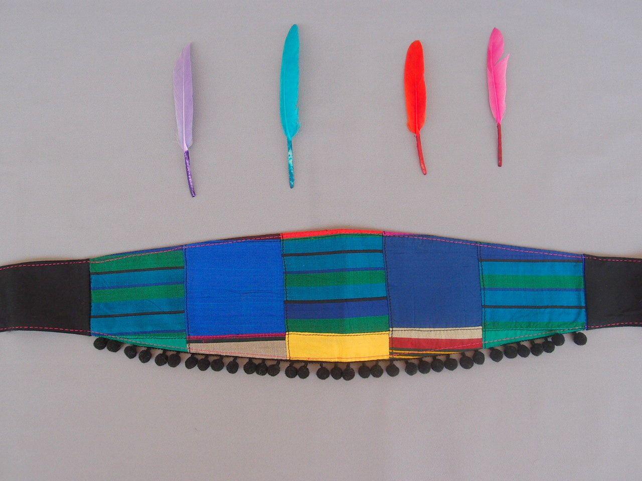 Blue Fabric Women Belt Silk Ribbon Belt Pom Pom Obi Belt Silk Patchwork Belt by baboshkaa on Etsy https://www.etsy.com/listing/190837664/blue-fabric-women-belt-silk-ribbon-belt