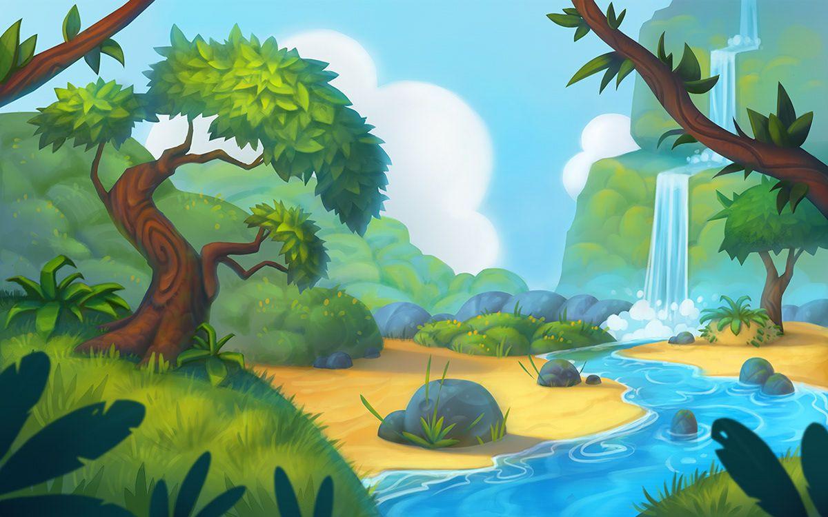 Game Background On Behance Risunki Pejzazhej Fonovye Izobrazheniya Illyustracii