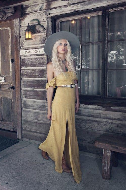 Vestido longo - moda hippie