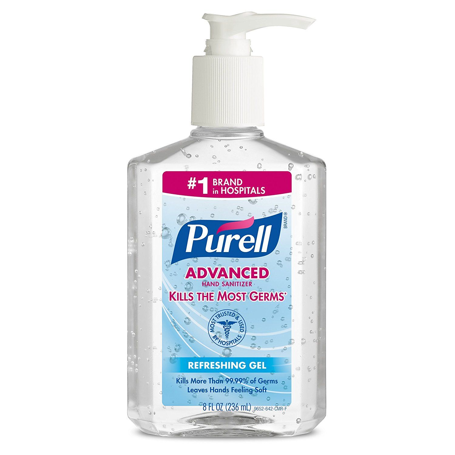 Purell 965212ct Advanced Instant Hand Sanitizer 8oz Pump Bottle