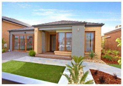 Casas modernas peque as dise os de casas de una planta for Disenos de exteriores para casas pequenas