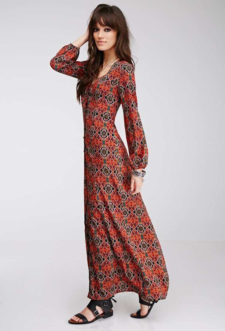 d2521649b01 Forever 21 - Long sleeves Maxi dress