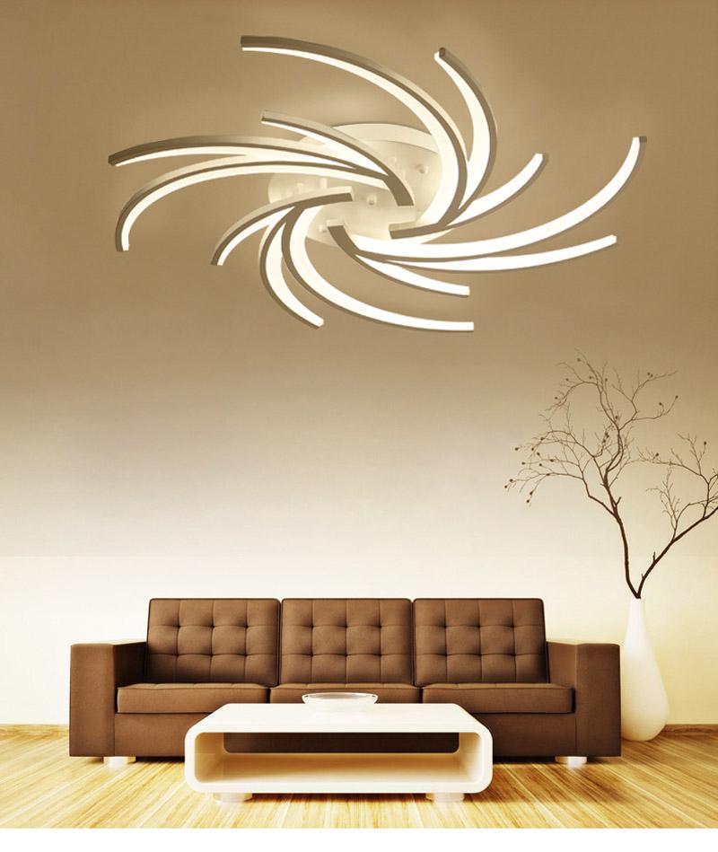 Moderne Deckenlampe Led Aus Acryl In Weiss Fur Wohnzimmer In 2020 Home Decor Decor Home