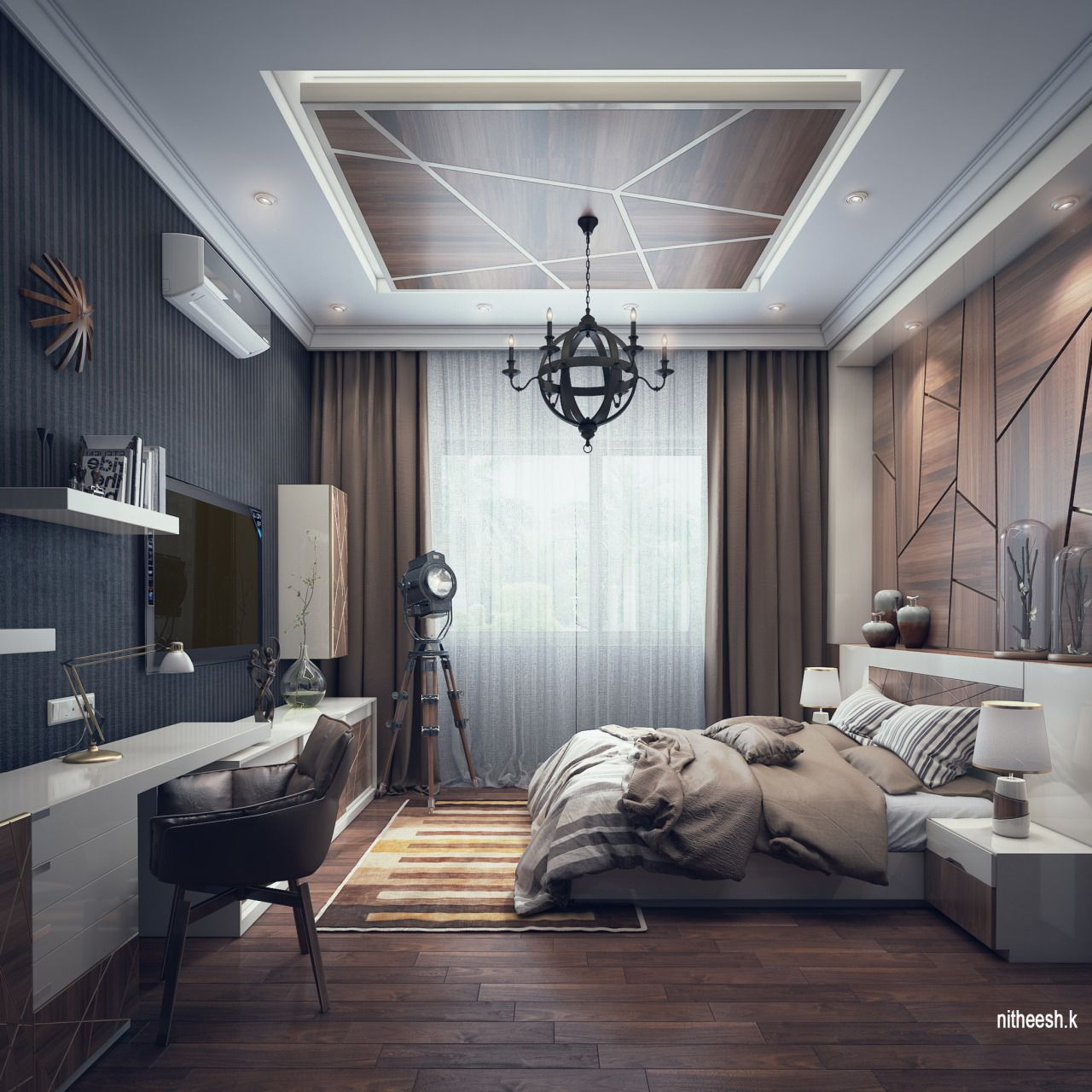 Best Bedroom In Qatar Created By Nithudesign Using 3Ds Max And 400 x 300