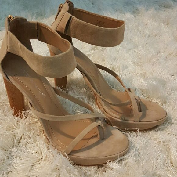 """BCBG Generation BG-Bahamas ankle strap 5"""" hills These are gently worn BCBG Bahamas ankle strap 5"""" hills made with leather suede. The condition is great no apparent damage or wear besides the bottom of the shoes. BCBGeneration Shoes Heels"""