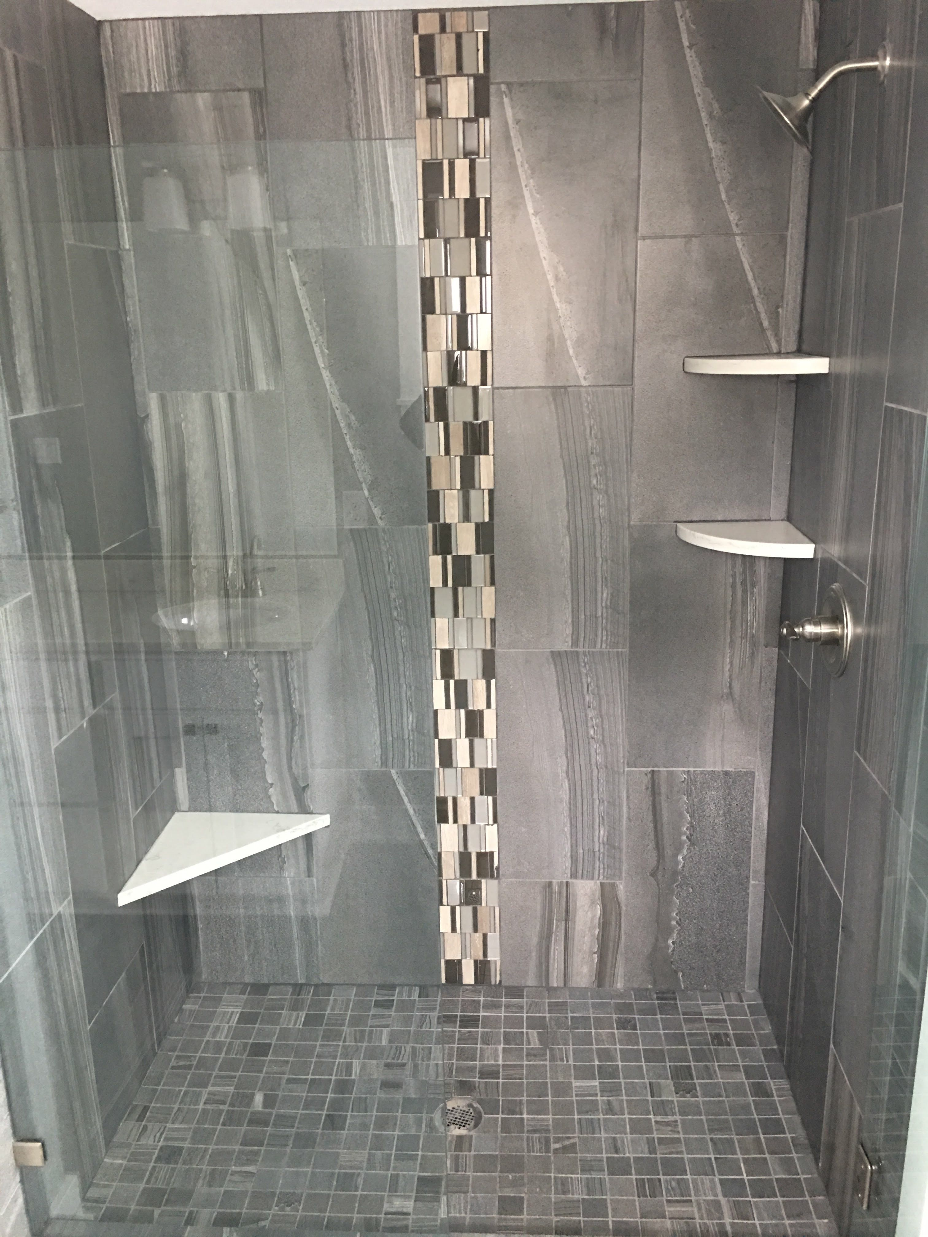 Love the tile in this walk in shower bathroom pinterest