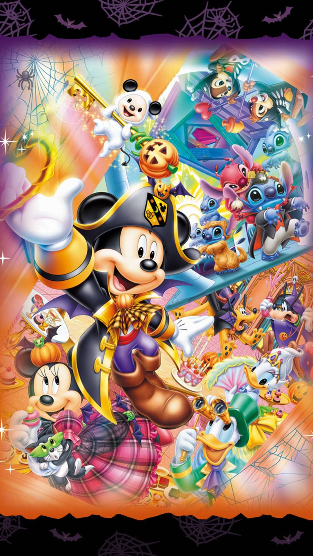 Halloween Mickey And Friends Iphone Wallpaper